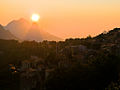 The village of Evisa (Corsica) in the sunset.jpg