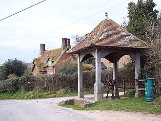 Edmondsham - Image: The village pump, Edmondsham geograph.org.uk 372820
