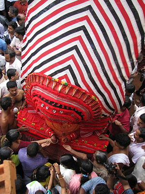 Kalarivathukkal Temple - Image: Theyyam blessing the devotees