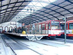 Thielenbruch (KVB) - Stadtbahn line 18 in Thielenbruch