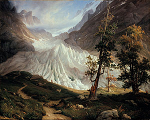 Thomas Fearnley - Grindelwaldgletscher, (1838)