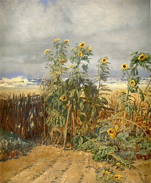 Thorvald Niss - Image: Thorvald Niss sunflowers on the beach
