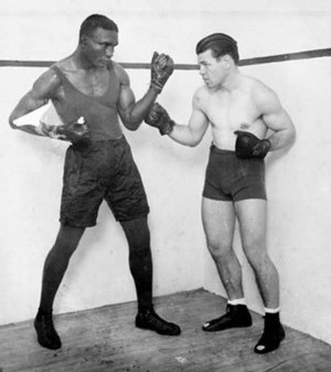 Mickey Walker (boxer) - Walker (right), posing with Tiger Flowers before their 1926 title bout