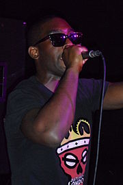 25cfce7c Tinie Tempah performing at WRONGBAR in Toronto, Canada in May 2011. Touring  and promotion for Disc-Overy in North America pushed back the release of ...