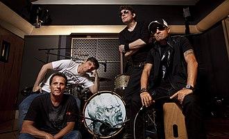 Titãs - Titãs as of 2013. From left to right: Tony Bellotto, Paulo Miklos, Branco Mello, and Sergio Britto.