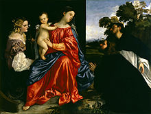 Titian Madonna and Child with Sts Catherine and Dominic and a Donor.jpg