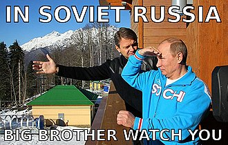 Russian reversal - An image macro with a joke of this type