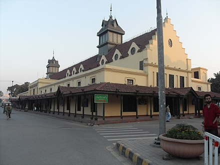 Much of old Lahore features colonial-era buildings, such as the Tollinton Market. Tollington market, Mall Road, Lahore, Pakistan.jpg