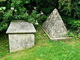 Tombstones in the churchyard of St Thomas à Becket, Box