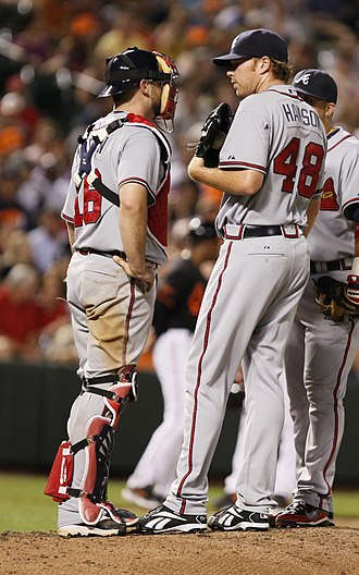Tommy Hanson - Hanson (right) with Brian McCann