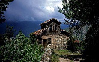 Trabzon Province - A traditional rural Pontic house in Livera village, Maçka district