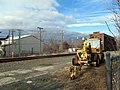Track equipment at former Thompsonville station, December 2014.JPG