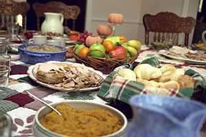 Thanksgiving - A traditional American Thanksgiving dinner