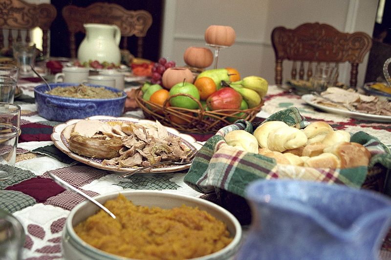 thankful thanksgiving traditional feast