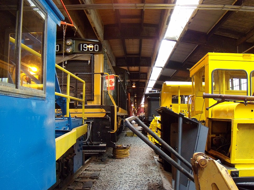 Train and equipment at Winnipeg Railway Museum