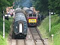 Trains passing in Crowcombe Heathfield station - geograph.org.uk - 1354012.jpg