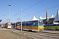Tram in Sofia in front of Central Railway Station 2012 PD 074.jpg