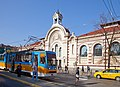 Tram in Sofia near Central mineral bath 2012 PD 059.jpg