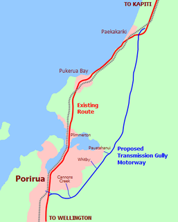 Transmission Gully Motorway road in New Zealand