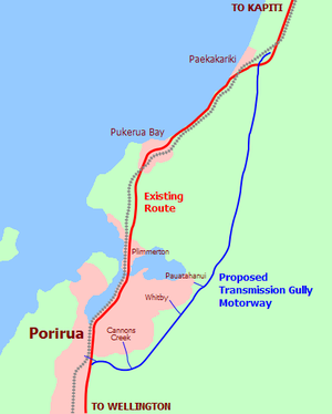 Transmission Gully Motorway - The route of the Transmission Gully Motorway