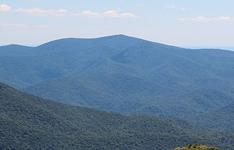 Tray Mountain - Tray Mountain viewed from Brasstown Bald
