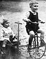 Tricycle, brothers, kids, toy Fortepan 56640.jpg