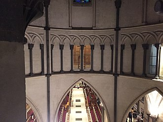 Temple Church - View of (and from) the circular triforium in the round nave