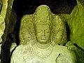 Trimurti sculpture at Elephanta Caves.jpg