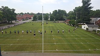 Trinity High School (Louisville) - The Trinity football team practicing on the Oasis fields under the supervision of Head Coach Bob Beatty.