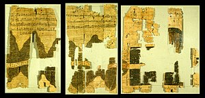 Turin Papyrus Map - Right half of the Turin papyrus map, courtesy J. Harrell