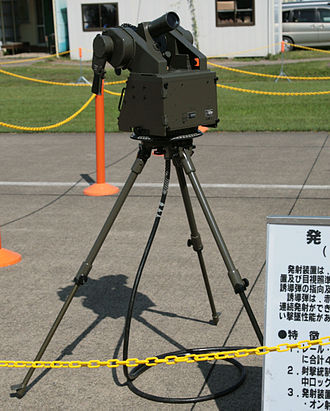 Type 81 (missile) - The tripod-mounted optical tracking unit