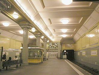 Alfred Grenander - Hermannplatz station, platform