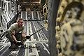 U.S. Air Force Staff Sgt. Joshua Jordan, a C-17 Globemaster III aircraft crew chief with the 8th Airlift Squadron, stabilizes an Army M142 light multiple rocket launcher system at Hurlburt Field, Fla., April 25 130425-F-IO684-399.jpg