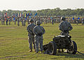 U.S. Soldiers, of U.S. Army Signal Center, and Fort Gordon prepare for the firing of the cannons, during Signal Center commanding general change of command ceremony, on Fort Gordon, Ga., July 21, 2010 100721-A-NF756-002.jpg