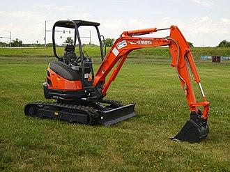 Compact excavator - A Kubota compact excavator