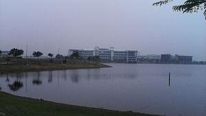 Universiti Malaysia Pahang - UMP Pekan Library in front of the Lake.