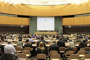Treaty on the Prohibition of Nuclear Weapons - Nations debate the idea of a nuclear-weapon-ban treaty at the UN in Geneva in May 2016.