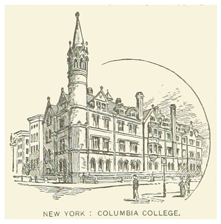 1857 building US-NY(1891) p598 NYC, COLUMBIA COLLEGE.jpg