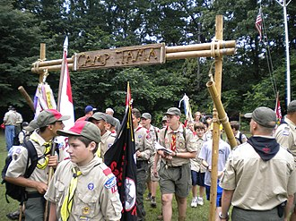 American Scouting overseas - Boy Scouts at Camp Tama, Japan