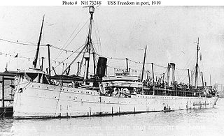 USS <i>Freedom</i> (ID-3024) Cargo and transport ship in the United States Navy during World War I