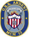 USS Ardent MCM-12 Crest.png