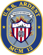 USS Ardent MCM-12 Crest