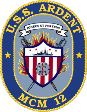 USS Ardent (MCM-12) - Image: USS Ardent MCM 12 Crest