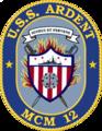 USS Ardent MCM-12 Crest.png