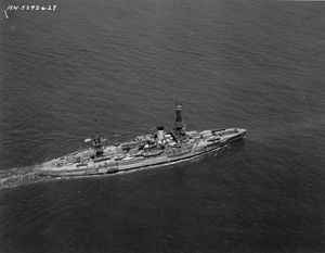 USS Arkansas (BB-33) - Arkansas underway in 1927