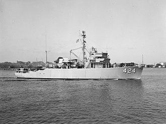 USS Bold (AM-424) - Image: USS Bold (MSO 424)