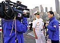 USS Bunker Hill executive officer interviewed by Seattle TV station 120803-N-AU127-887.jpg