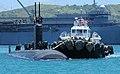 USS Cheyenne pulls into Apra Harbor, Guam. (8637769782).jpg