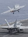 USS Nimitz conducts flight operations. (9084852229).jpg