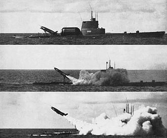 SSM-N-8 Regulus - Image: USS Tunny (SSG 282) Regulus launching sequence c 1956